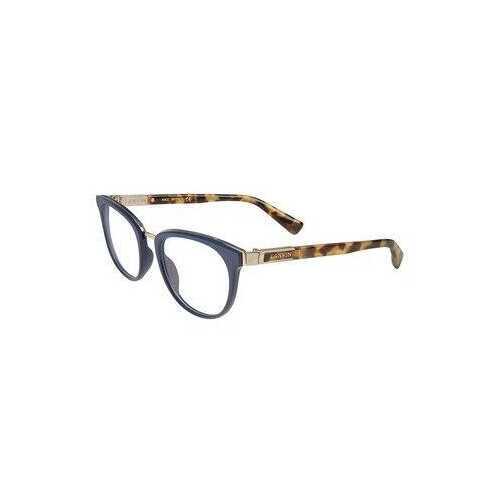 Lanvin VLN 079-0D82 Shiny Blue Square Unisex Acetate Eyeglasses