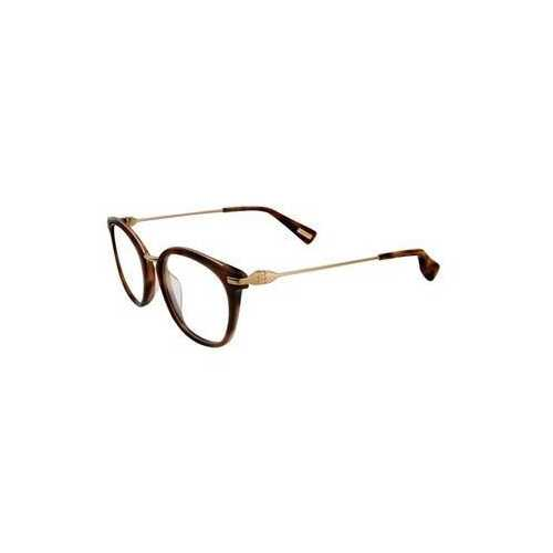 Lanvin VLN 085M-08FF Brown Horn Square Unisex Acetate Eyeglasses