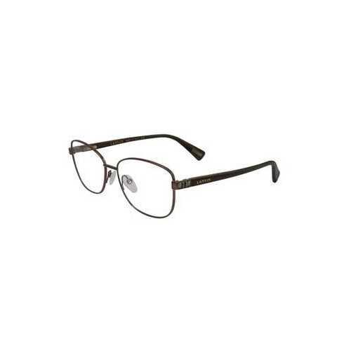 Lanvin VLN 090S-0L26 White Brown Square Unisex Eyeglasses