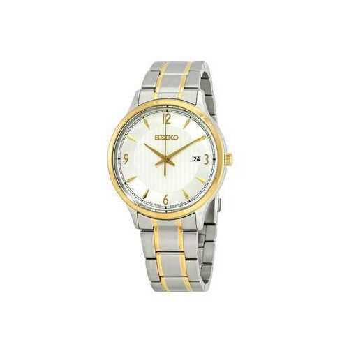 Seiko SGEH82 Classic Two Tone Stainless Steel Silver Dial Men's Quartz Watch