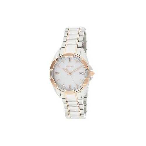 Seiko SKK888 Two Tone Diamond Accent Mother of Pearl Dial Women's Watch