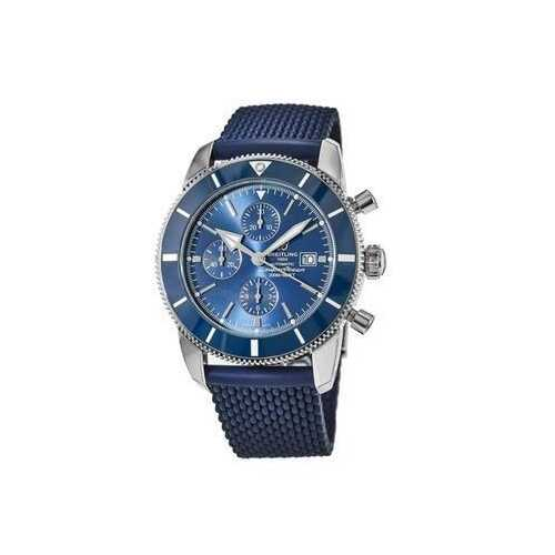 Breitling A1331216 Superocean Heritage II Blue Dial Aero Classic Rubber Chronograph Watch