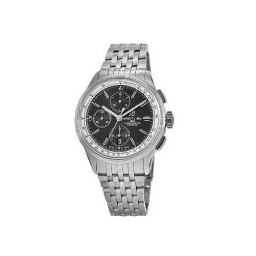 Breitling A13315351B1A1 Premier Silver Stainless Steel Black Dial Men's Chronograph Watch