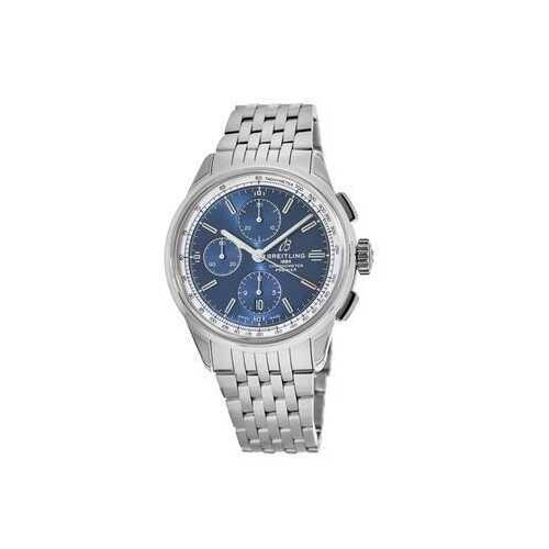 Breitling A13315351C1A1 Premier Stainless Steel Blue Dial Men's Chronograph Automatic Watch