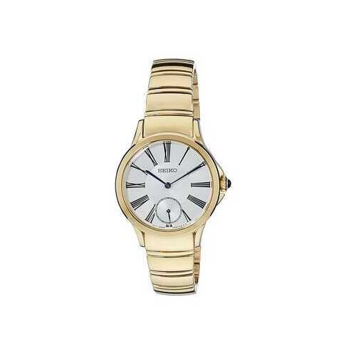 Seiko SRKZ56 Gold Stainless Steel White Dial Women's Quartz Watch
