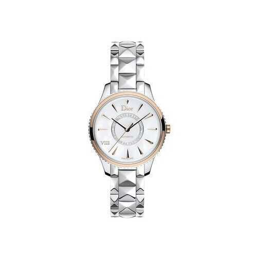 Dior CD1535I0M001 VIII Montaigne Silver Stainless Steel Mother of Pearl Diamond Dial Watch