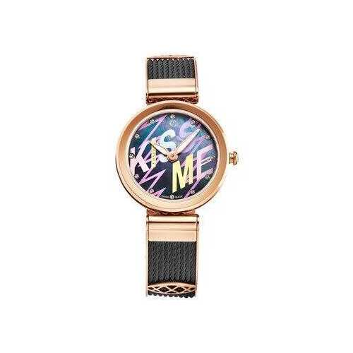 Charriol FE32302016 Forever Black Stainless Steel Cable Mother of Pearl Dial Women's Watch