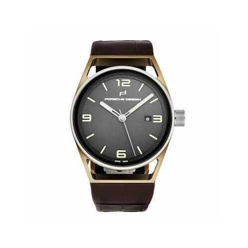 Porsche Design 6020.3030.04072 Datetimer Grey Dial Men's Brown Leather Automatic Watch