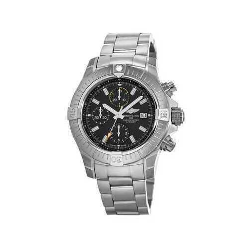 Breitling A13317101B1A1 Avenger Chronograph Stainless Steel Black Dial Men's Chronograph Watch