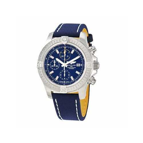 Breitling A13317101C1X1 Avenger Chronograph Blue Dial Men's Military Leather Chronoraph Watch