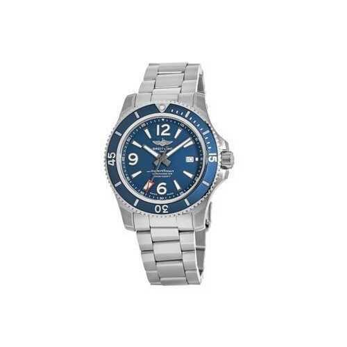 Breitling A17367D81C1A1 Superocean 44 Stainless Steel Blue Dial Men's Chronometer Watch
