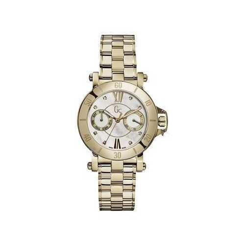 Guess X74111L1S Yellow Gold Stainless Steel White Mother of Pearl Women's Watch