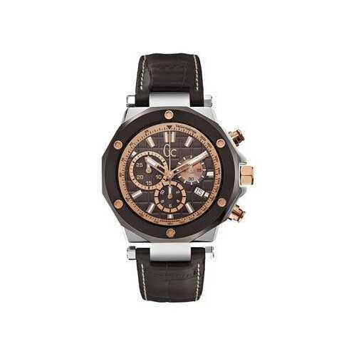 Guess X72018G4S Brown Dial Men's Leather Chronograph Quartz Watch