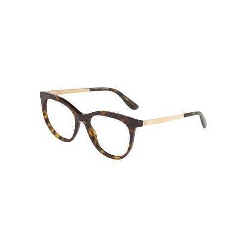 Dolce & Gabbana DG3316-502 Havana Cat-Eye Women's Acetate Eyeglasses