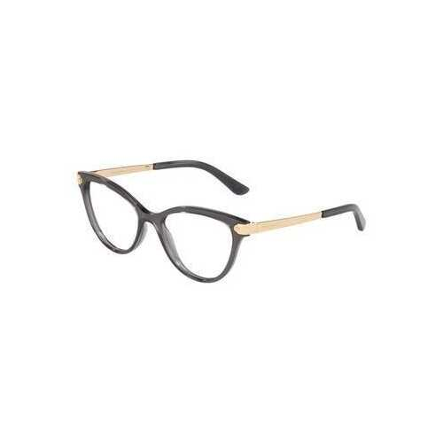 Dolce & Gabbana DG5042-504 Transparent Grey Cat-Eye Women's Acetate Eyeglasses