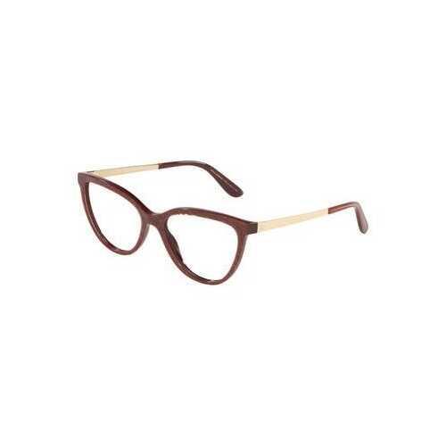 Dolce & Gabbana DG3315-3219 Glitter Gold Striped Bordeaux Cat-Eye Women's Acetate Eyeglasses