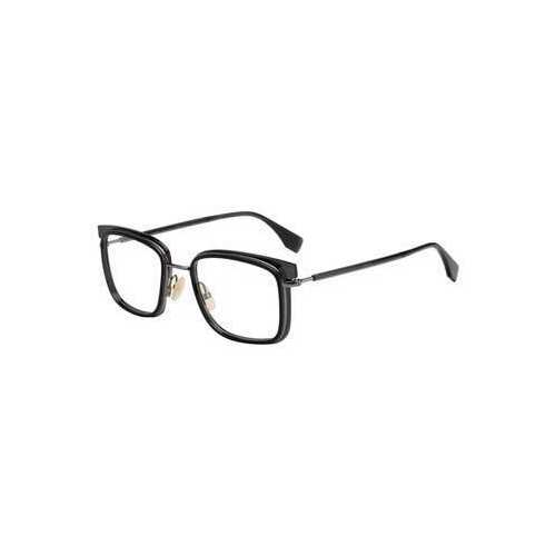 Fendi FF M0064-807 Black Square Men's Metal Eyeglasses