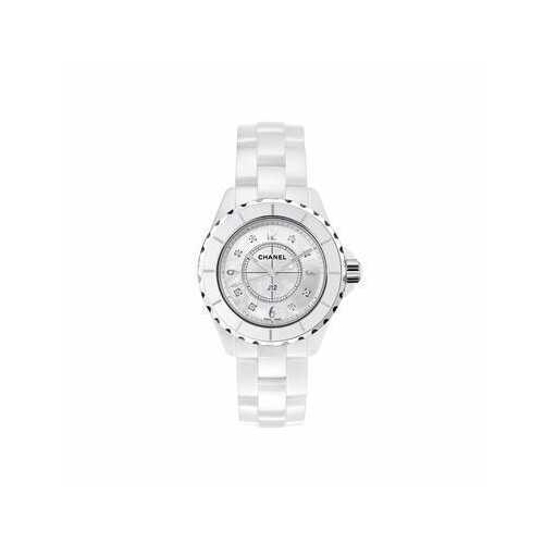 Chanel H2422 J12 White Ceramic Diamonds Quartz Ladies Watch