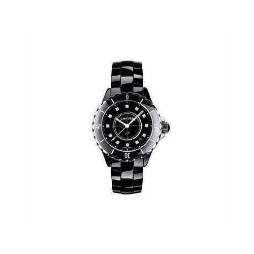 Chanel H1625 J12 Diamonds Black Ceramic Ladies Watch