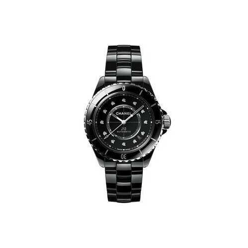 Chanel H5702 J12 Automatic Diamond Black Dial Ladies Watch