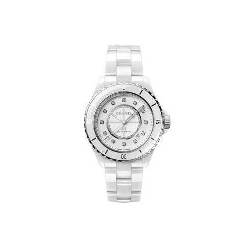 Chanel H5705 J12 Diamond White Dial Ladies Watch