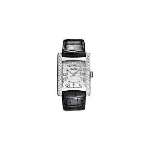 Ebel 1215720 Brasilia Silver Dial Black Leather Men's Watch