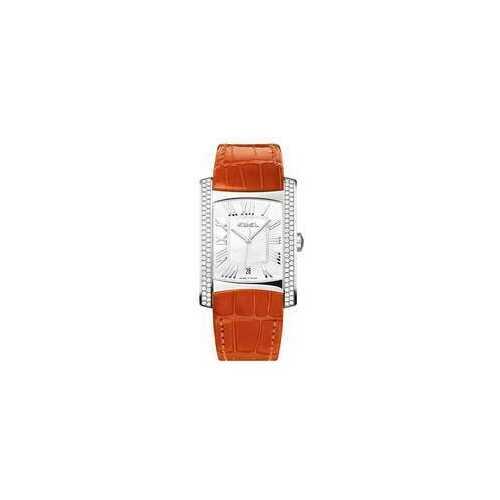 Ebel 1215722 Brasilia Mother of Pearl Dial Orange Leather Strap Ladies Watch