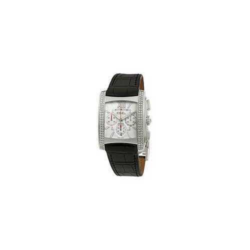 Ebel 1215784 Brasilia Automatic White Dial Black Leather Strap Ladies Watch