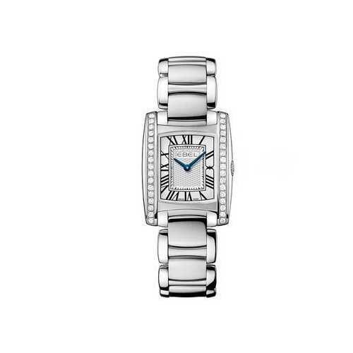 Ebel 1216068 Brasilia Silver Dial Diamond Steel Ladies Watch