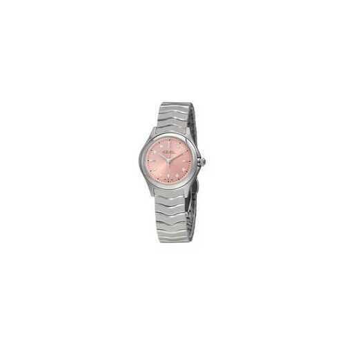 Ebel 1216217 Wave Pink Galvanic Dial Diamond Ladies Watch