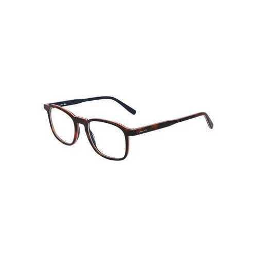 Lacoste L2845-214 Havana Orange Square Unisex Acetate Eyeglasses