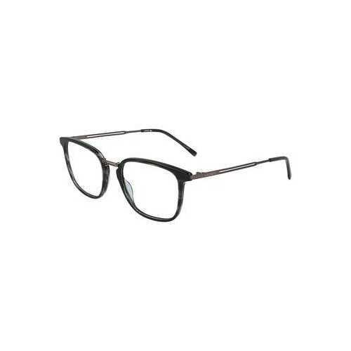 Lacoste L2853-220 Havana Striped Green Square Men's Acetate Eyeglasses
