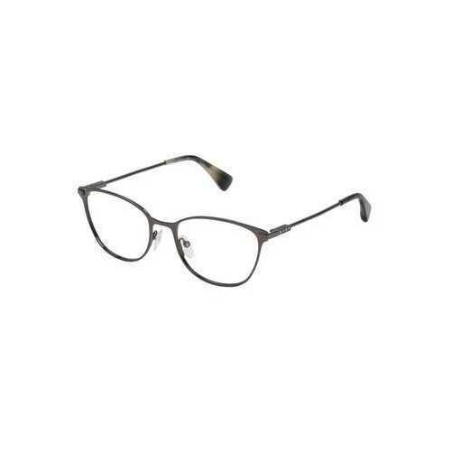 Lanvin VLN 095S-0568 Shiny Gunmetal Square Unisex Metal Eyeglasses