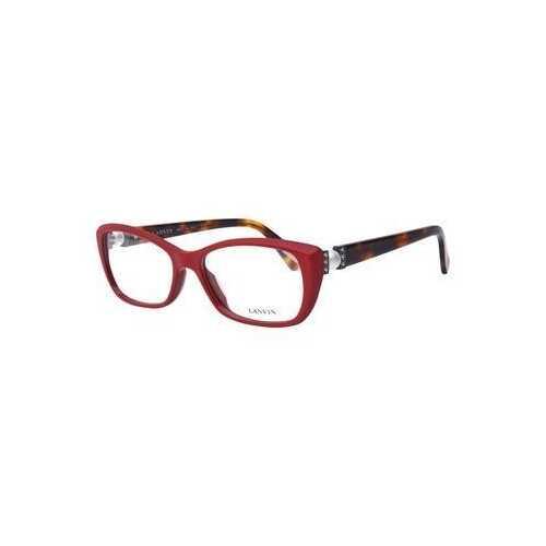Lanvin VLN 665S-09LB Shiny Red Rectangular Women's Acetate Eyeglasses