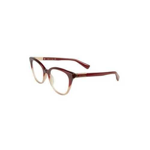 Lanvin VLN 709-0AH7 Burgundy Brown Square Women's Acetate Eyeglasses