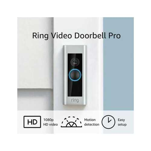Ring Pro Wi-Fi Motion Activated Alerts Smart HD Video Doorbell - Wired - Refurbished