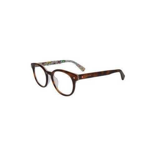 Lanvin VLN 679V-0APC Mink Shiny Pattern Round Women's Acetate Eyeglasses