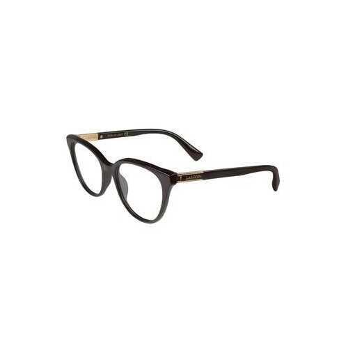 Lanvin VLN 709-700 Black Square Women's Acetate Eyeglasses