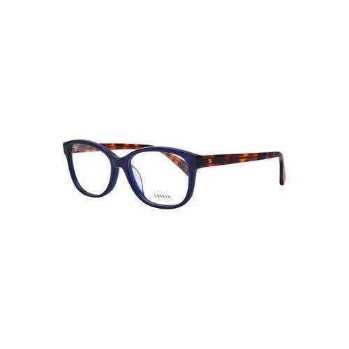 Lanvin VLN 662M-0W47 Shiny Blue Square Women's Acetate Eyeglasses