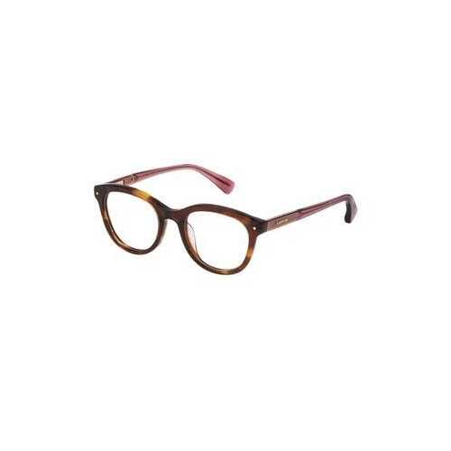Lanvin VLN 714M-06HN Clear Brown Round Unisex Acetate Eyeglasses