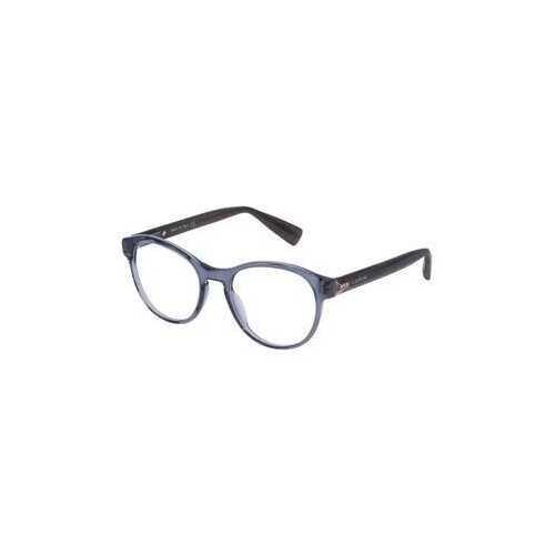 Lanvin VLN 708S-04AL Grey Round Unisex Acetate Eyeglasses