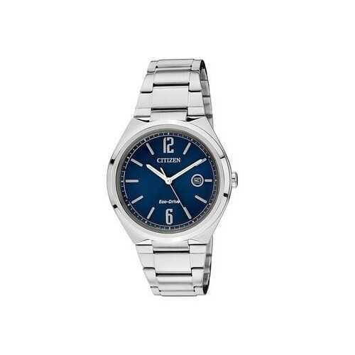 Citizen AW1370-51L Silver Stainless Steel Black Dial Men's Eco-Drive Watch