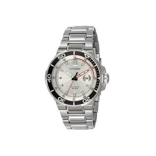 Citizen AW1420-63A Silver Stainless Steel White Dial Unidirectional Bezel Diver's Watch
