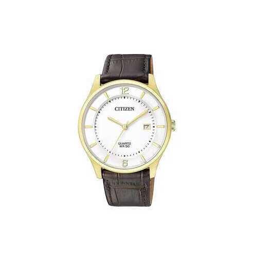 Citizen BD0043-08B White Dial Men's Brown Leather Men's Quartz Watch