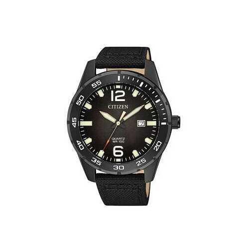 Citizen BI1045-05E Black Dial Men's Nylon Ion-Plated Quartz Watch