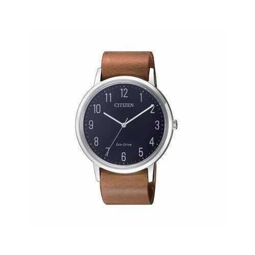 Citizen BJ6501-10L Blue Dial Men's Brown Leather Eco-Drive Watch