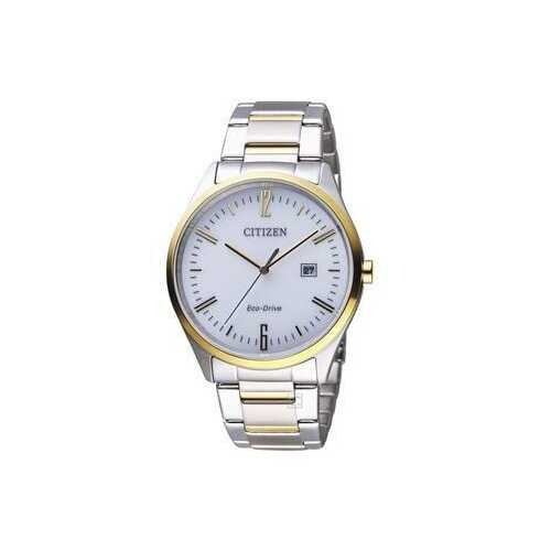 Citizen BM7354-85A Two Tone Stainless Steel White Dial Men's Eco-Drive Watch
