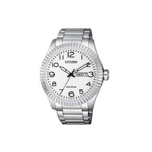 Citizen BM8530-89A Silver Stainless Steel White Dial Men's Eco-Drive Watch