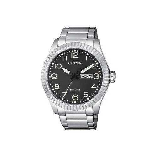 Citizen BM8530-89E Silver Stainless Steel Black Dial Men's Eco-Drive Watch