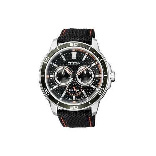 Citizen BU2040-05E Black Dial Men's Multifunction Nylon Eco-Drive Watch